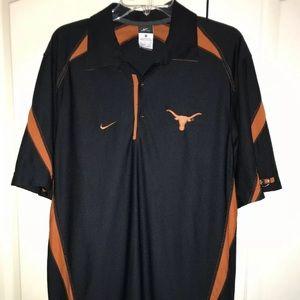 UT Texas Longhorns Nike Dri-Fit Polo Men's Small